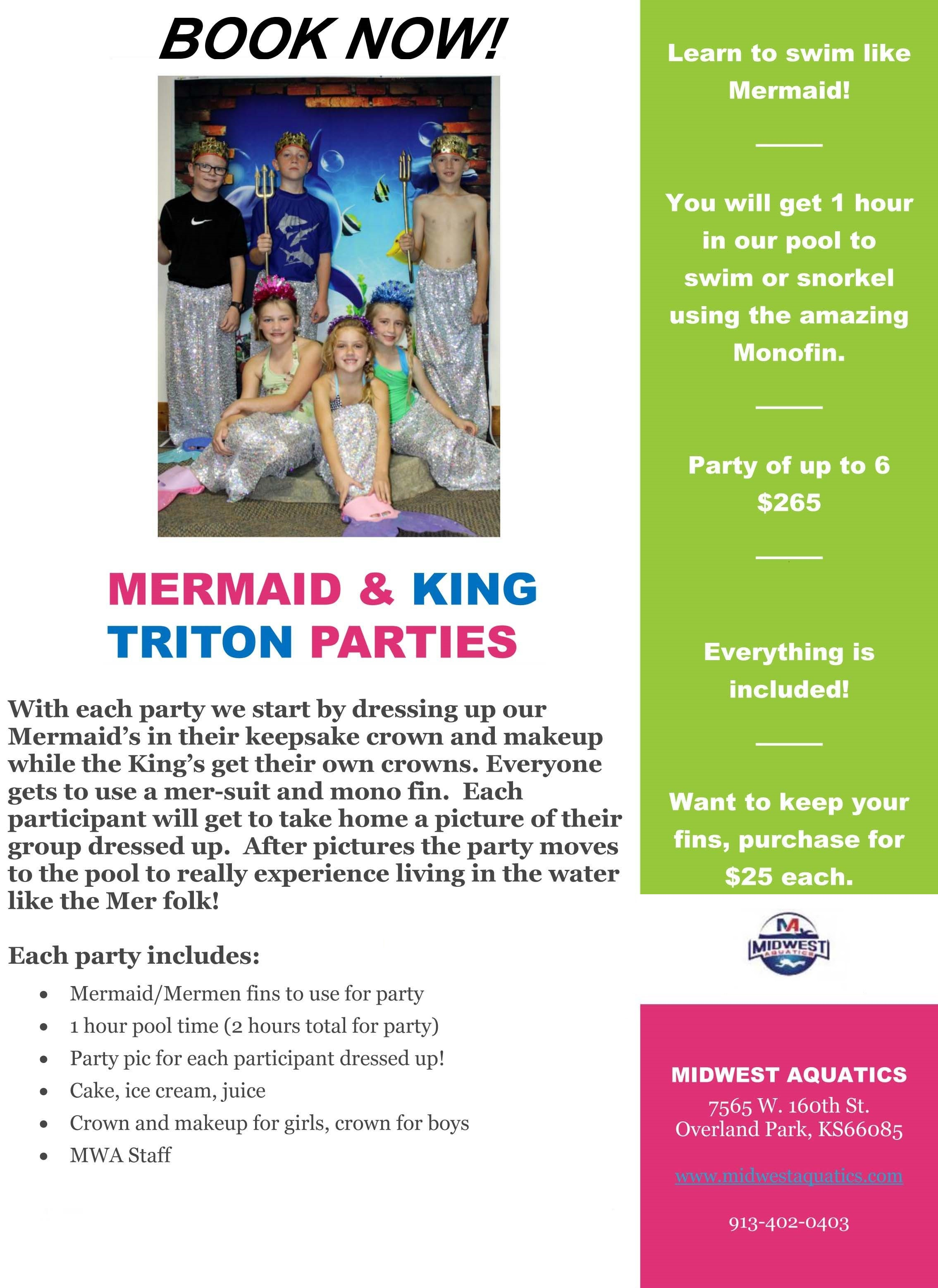 Mermaid and King Triton Party Flier