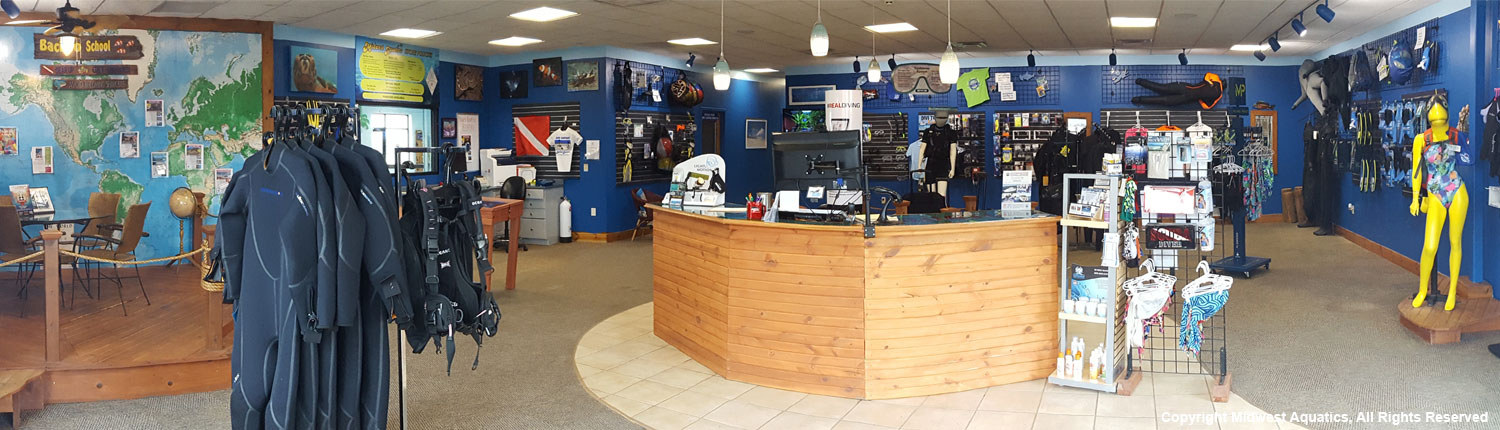 Midwest Aquatics Showroom Floor